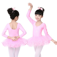 Childrens Dance Practice ballet leotard dress Girl Lace Flour long or Short Sleeve Costume with open crotch JQ-292