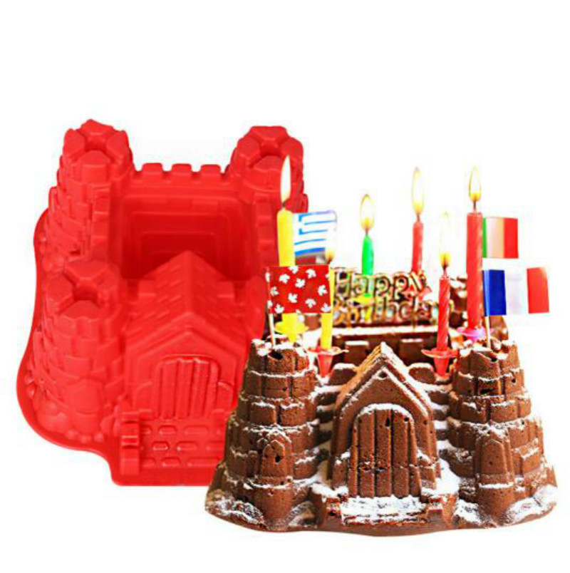 big castle chocolate christmas silicone cake mold bakeware set silicone moulds for cake decorations