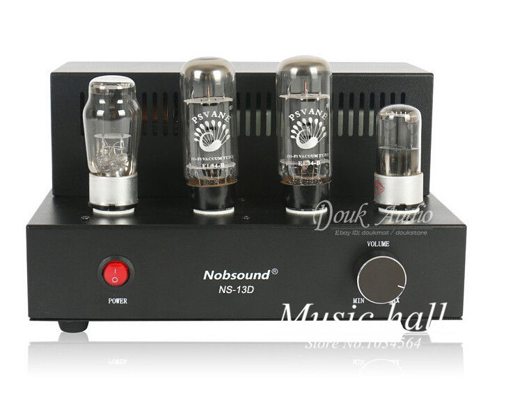 Music Hall  2015 latest Nobsound EL34 Hifi Single-ended Class A Stereo tube amplifier Black Mini AMP DIY music hall latest appj assembled fu32 tube amplifier audio single ended class a power amp board hifi diyer free shipping