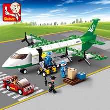 383Pcs City Airplane Air Bus Aircraft Plane Model Building Blocks Sets Compatible LegoINGs LepinINGs Bricks Toys for Children(China)