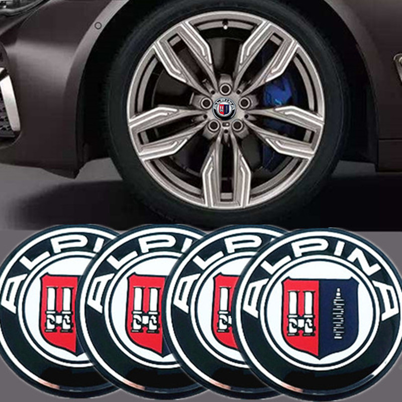 CDIY 4pcs/sets 56.5mm 65mm Aluminum Car Wheel Center Hub Caps Sticker For BMW ALPINA Logo E46 E39 E90 E60 E36 F30 X5 E53 F10