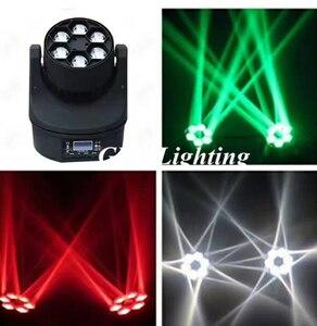 Image 3 - 4 pçs/lote LED Mini Abelha Olho Levou Movendo a Cabeça Feixe de Luz Efeito 6x15W dj discoteca DMX512 4IN1 RGBW CONDUZIU a Lâmpada 10/15CH