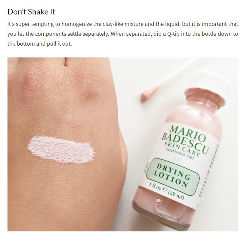 An Effective Acne Treatment Original Mario Badescu Drying Lotion 29ml Anti Acne Serum Pimple Blemish Removal