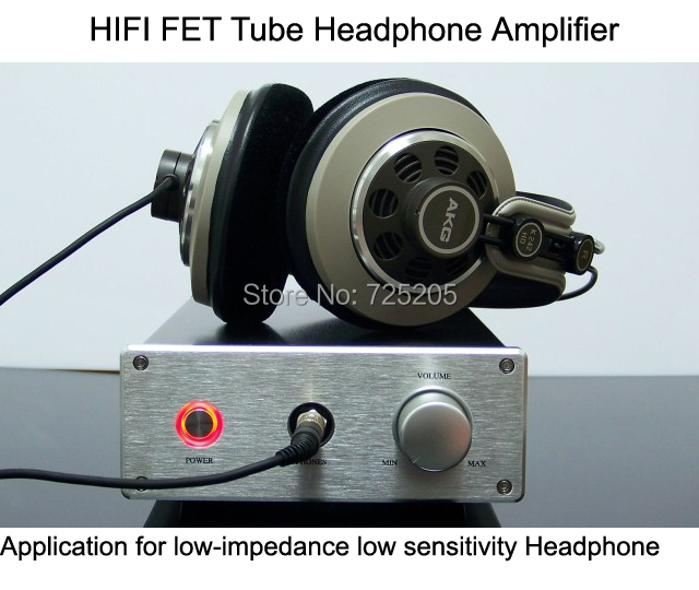 HIFI FET-Tube Headphone Amplifier Separation Parts Designed for Impedance  8-120 ohm appj pa1502a tube headphone amplifier