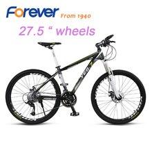 FOREVER Mountain bike 27 speed aluminum alloy frame can be locked front fork double disc brakes bike YE8.7