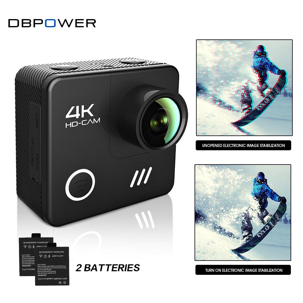 Prix pour DBPOWER L1040 4 K Sport Caméra Wifi 4 K/24FPS Étanche avec 2.0 pouces Lcd Écran 3D Anti-secouer Gro Casque Cam Pro Action Cam