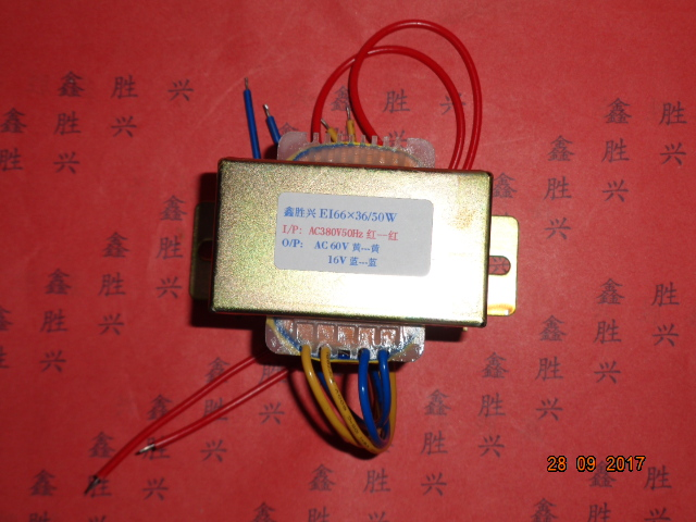 60V/16V Transformer 380V input 50VA EI66*36 Pulse bag filter non contact controller switch transformer