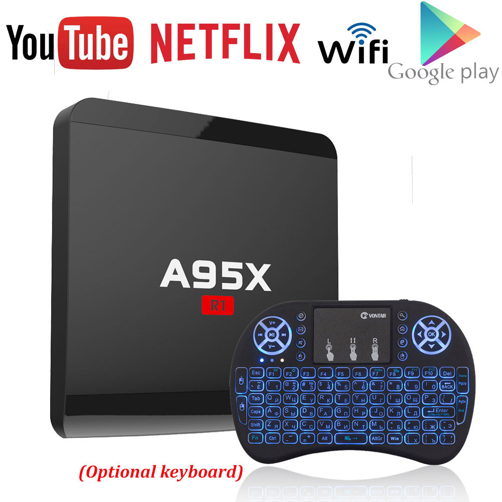A95X R1 Amlogic S905W Quad-core Android 7.1 Smart TV Box 1 gb/8 gb 2 gb/16 gb 4 karat x 2 karat HD 2,4g Wifi Media Player Nexbox Set Top Box