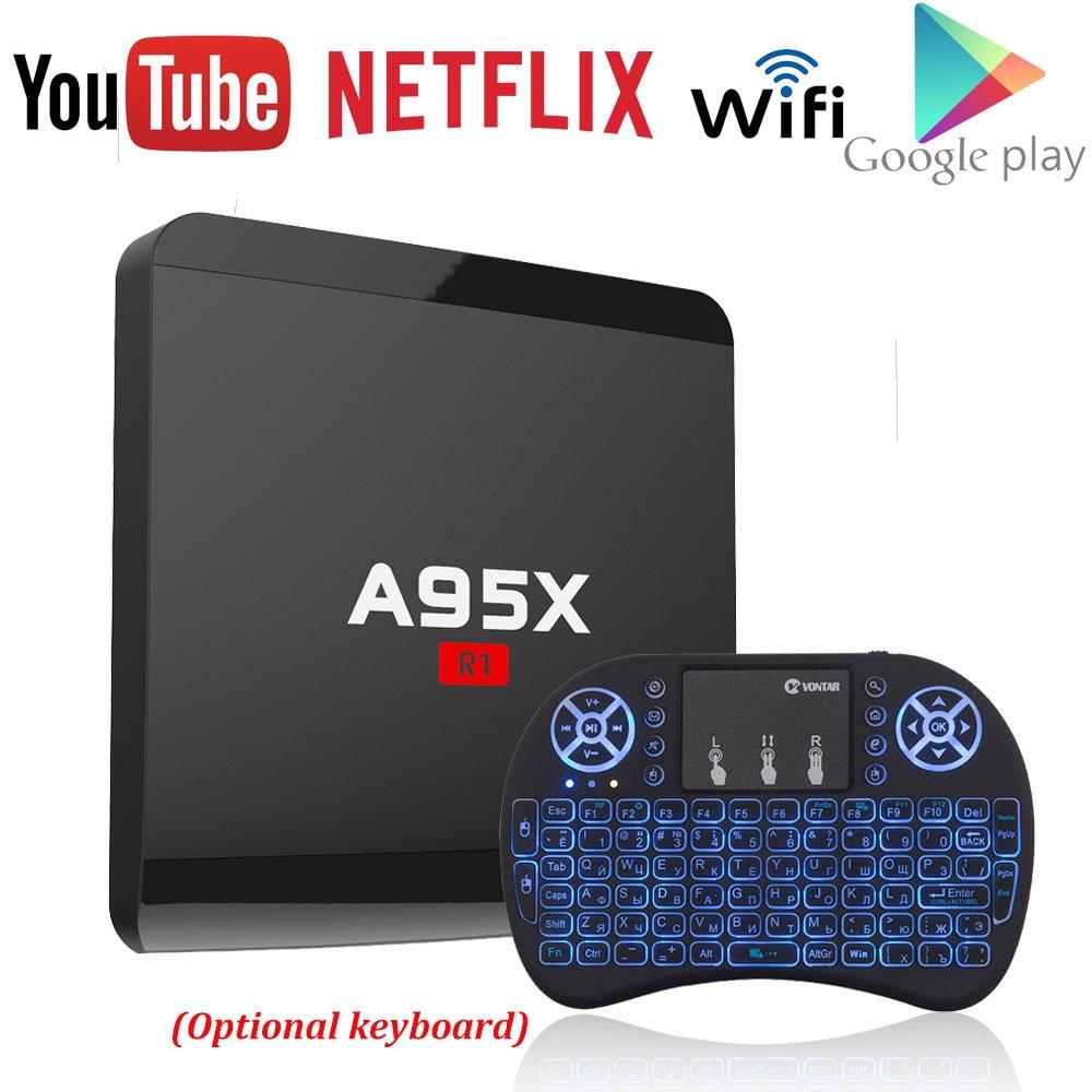 A95X R1 Amlogic S905W Quad-core Android 7.1 Smart TV Box 1 gb/8 gb 2 gb/16 gb 4 karat x 2 karat HD 2,4g Wifi Media Player Nexbox Set Top Box