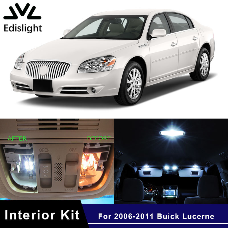 2006 Buick Lucerne Price: Edislight 10pcs White Ice Blue LED Car Light Interior