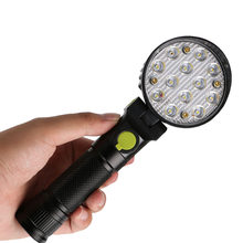 Portable LED Flashlight Work Light USB Lantern with Magnet Hanging Hook for Outdoors Camping Sport Traffic Control Warning Lamp(China)