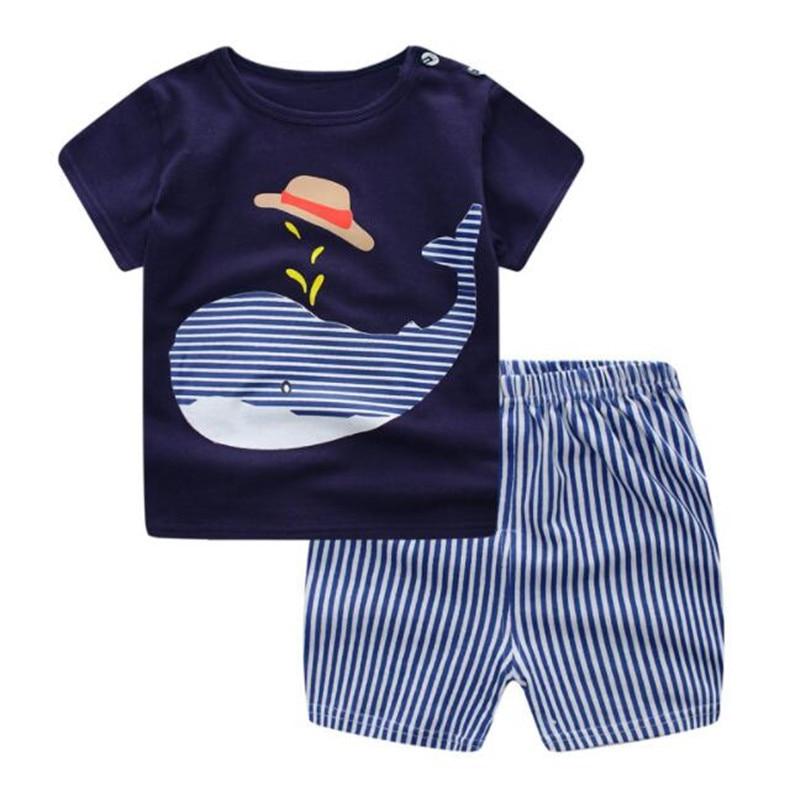 Funfeliz Baby Boy Ubrania Letnie Chłopięce Garnitury Sportowe Na Co - Ubrania dziecięce - Zdjęcie 3