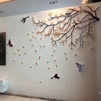 Acrylic crystal three-dimensional Sofa wall Living room wall TV background wall 3D three-dimensional wall stickers