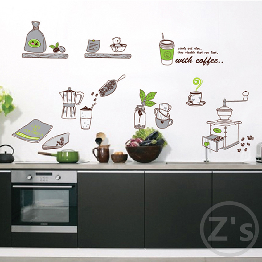 Zs Sticker cooking tools coffee kitchen decor cooked wall sticker ...