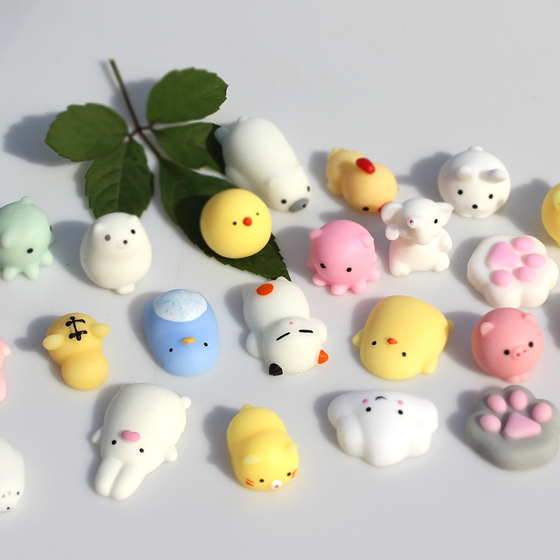 Variety Squishy Min Change Color Cute Animal Antistress Squishy Ball Squeeze Mochi Rising Abreact Soft Sticky Stress Relief Toy