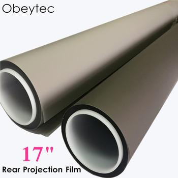 "Obeytec 17"" Rear Projection Screen Film  Self Adhesive Transparent holographic Porjected screen"