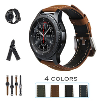URVOI Band For Samsung Galaxy Gear S3 R760 R770 Strap Crazy Horse Vintage Leather With Closure