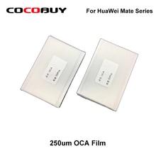 50Pcs OCA Gule Film Optical Clear Adhesive Sticker for Huawei Mate7/Mate 8 MATE 9/10 Mate 20 Pro Mate 9 Pro цена и фото