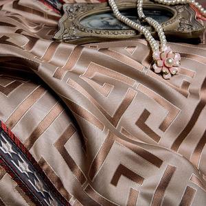 Image 5 - Juego de cama con brocado de lujo de seletanya, cama king queen de doble tamaño