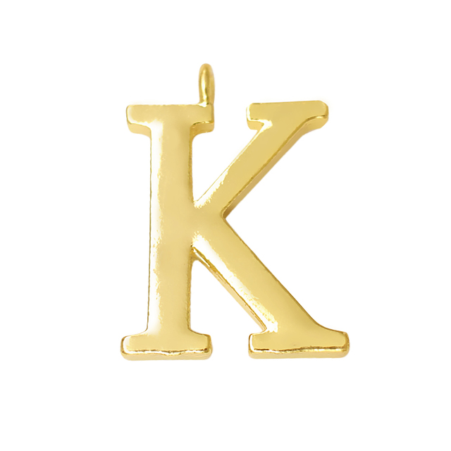 US $13 26 22% OFF|Hot gold & silver metal word K charm for English alphabet  A Z jewelry making pendant customizable-in Charms from Jewelry &