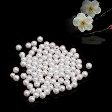 About 4/5/6/8mm Simulated-pearl Round Space Loose Beads For Bracelets Jewelry Making Accessories Gift Wholesale(China)