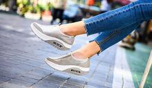 Rocking shoes female 2018 new mesh big number one pedal lazy shoes mesh thick bottom female vulcanized shoes