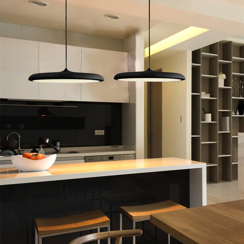 Black Pendant Lighting Bar Modern LED Pendant Light Kitchen Island Lamp Hotel Lights Room Study Office Ceiling Lamp Bulb IncludeBlack Pendant Lighting Bar Modern LED Pendant Light Kitchen Island Lamp Hotel Lights Room Study Office Ceiling Lamp Bulb Include