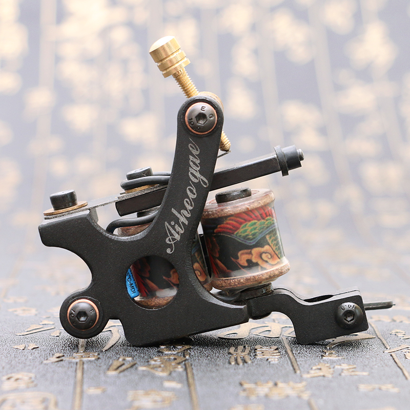 New Professional Tattoo Machine  Darksteel 12Coils Tattoo Gun For Beginner Liner  Free Shipping TM5109 software selection for a liner shipping company