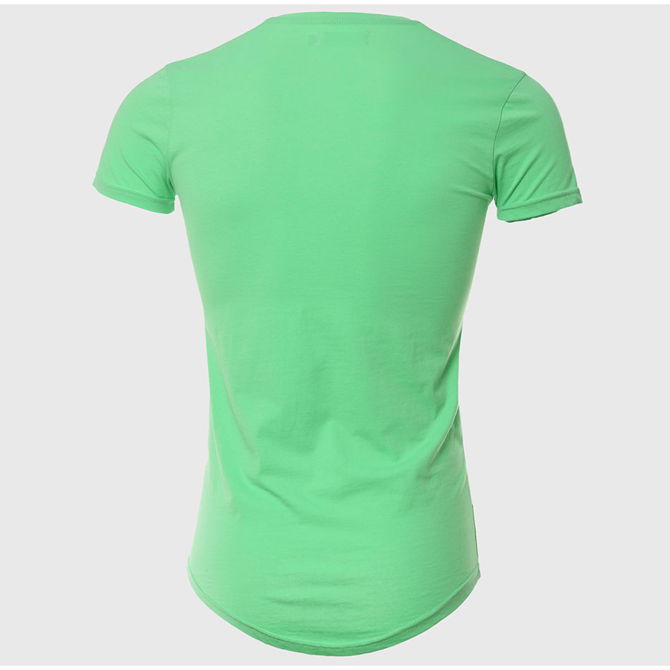 21 Colors Deep V Neck T-Shirt Men Fashion Compression Short Sleeve T Shirt Male Muscle Fitness Tight Summer Top Tees 28