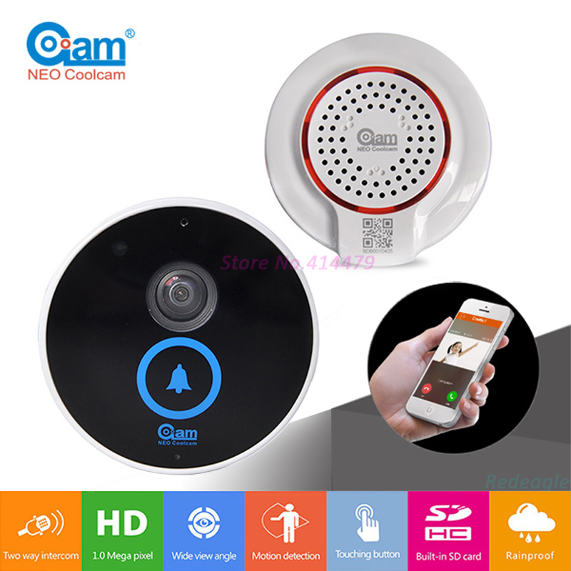 Home Wireless Wifi Video Doorbell Door Phone Intercom with indoor Chime Built in 8G Card Support iOS Android Smart Phone zilnk video intercom hd 720p wifi doorbell camera smart home security night vision wireless doorphone with indoor chime silver