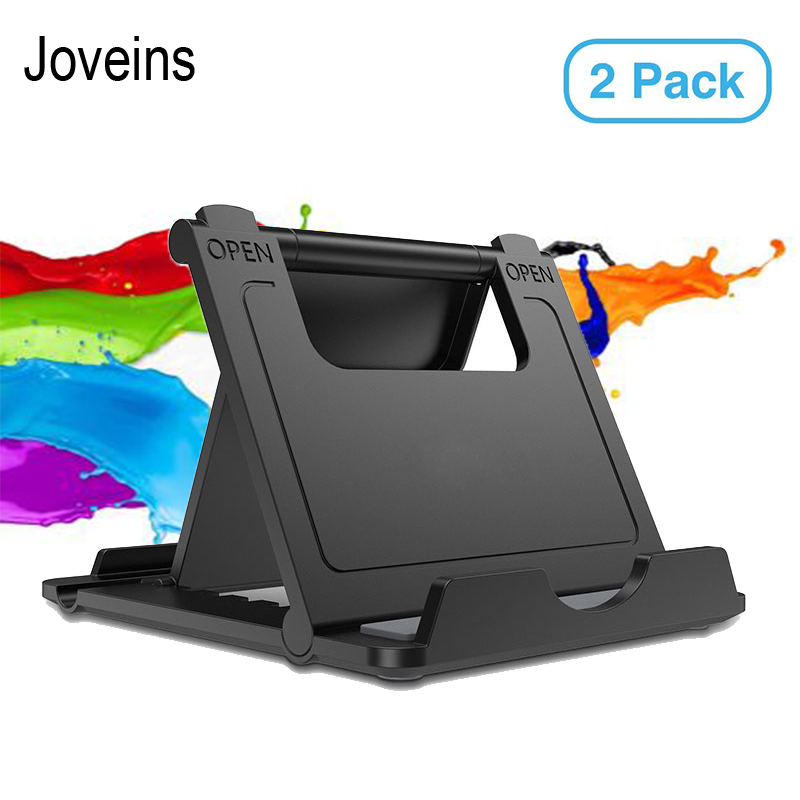 JOVEINS 2 Pack Multi-Angle Phone Stand and Holder For iPhone Desk Phone Holder Universal Mobile Phone Stand For Samsung Cellphon