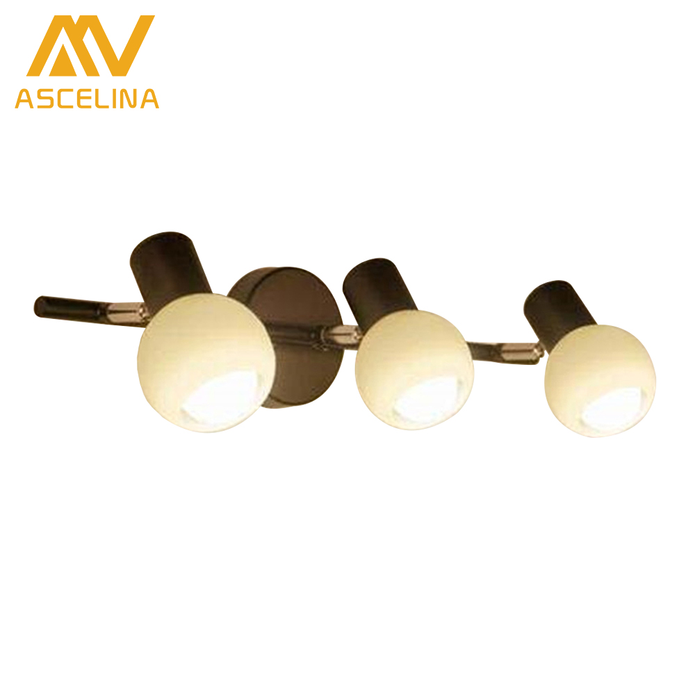 Modern American Country Iron Double Head wall Lamp Corridor Wall lamps fashion simple bedside lamps lighting art wall lights modern lamp trophy wall lamp wall lamp bed lighting bedside wall lamp