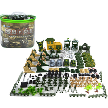 200pcs/lot Soldiers Model Action Figure Sandbox Game Military Toy Soldier Tank Figures Playset Kit Model Toys For Boys children s 28pcs set medieval knights warriors horses kids toy soldiers figures static model playset playing on sand castles