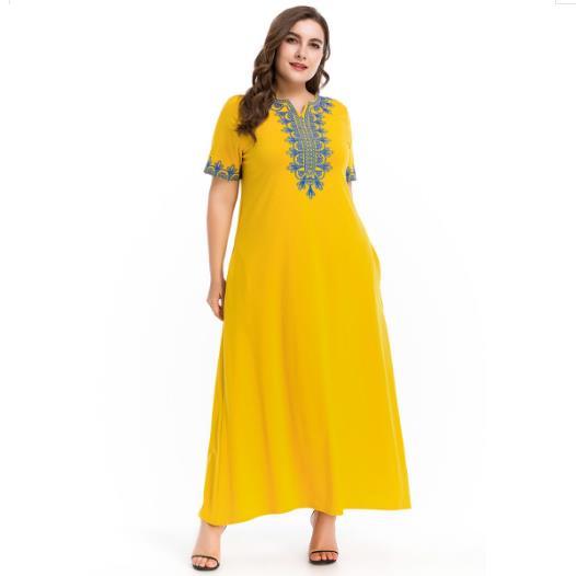 9fc549fb23 Clobee Women Dress 2018 Muslim Robes Abaya Islamic Women s Dress Elegant  Dubai Ladies Vintage Embroidery Long Maxi Dresses FD35