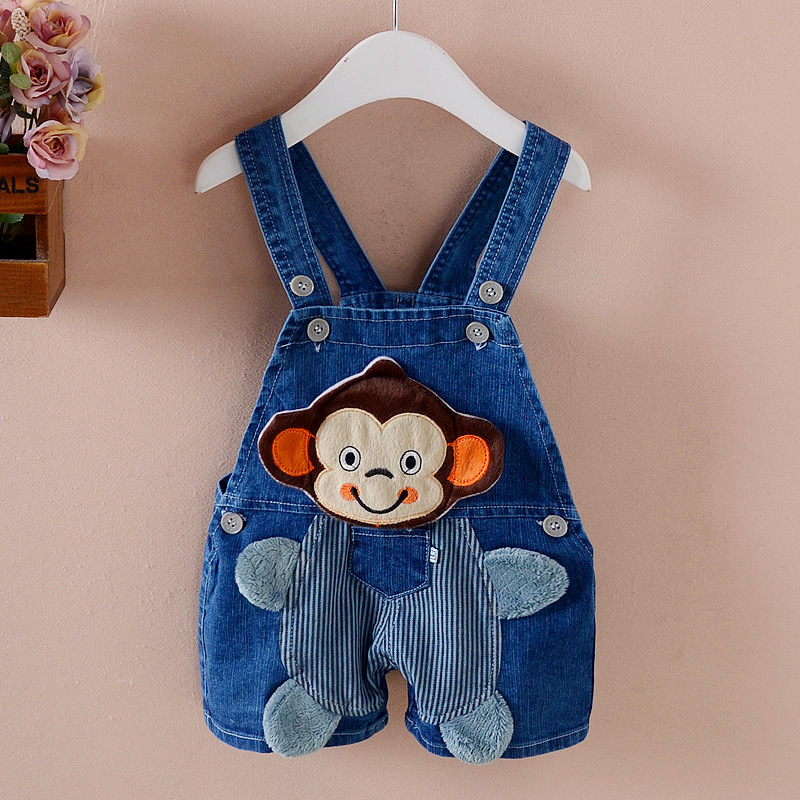 Children Boys Overalls Toddler Baby Clothing Casual Denim Pants Cartoon Jumpsuit