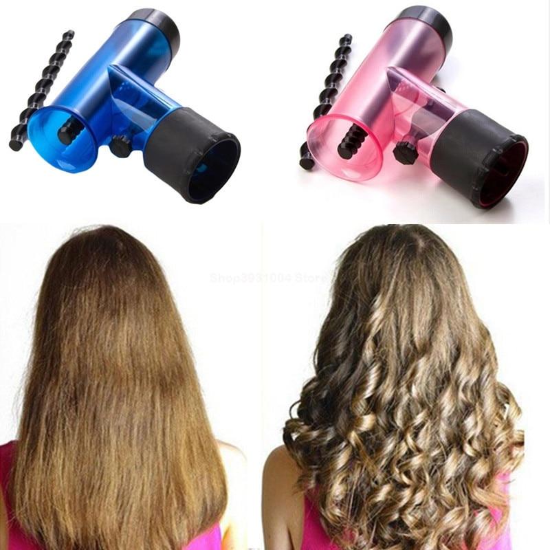Портативный диффузор для волос, салонная сушильная шапочка для волос, инструмент для укладки волос, роликовый фен для волос, волшебная возд...