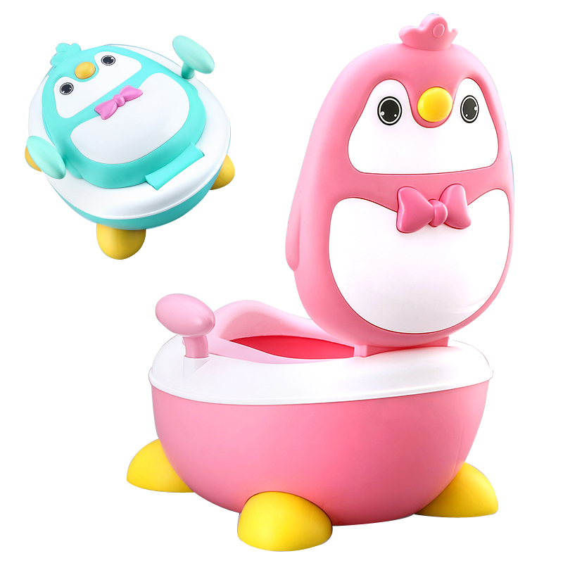 Baby Potty Toilet Training Portable Plastic Child Potty Trainer Kids Indoor Infant Baby Potty For Free Potty Brush+cleaning Bag