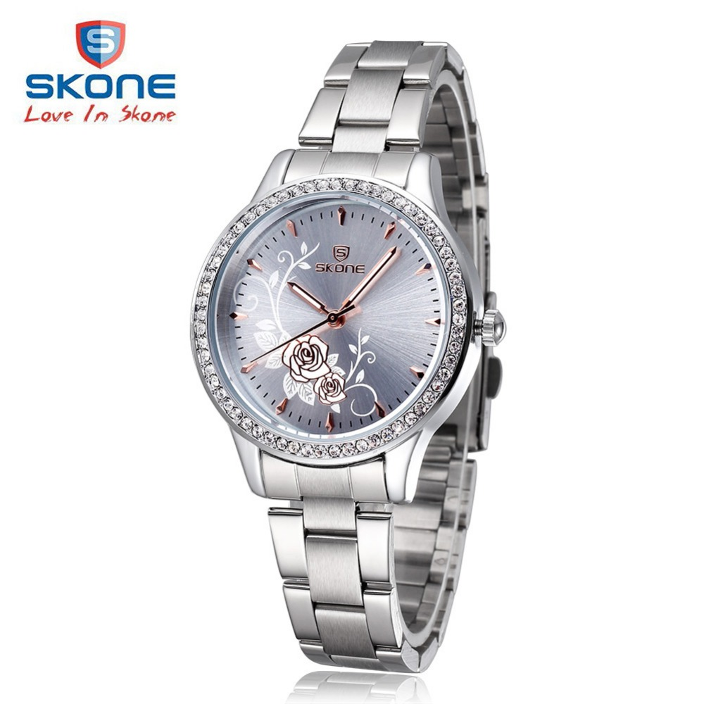 SKONE Fashion Dress Women Watches Top Luxury Brand Woman Quartz Watch Ladies Engraved Dial Clock Relogio Feminino Montre Femme woman watches luxury brand quartz watches ladies watch women fashion