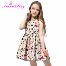 купить Girls Summer Dress Baby Girl Clothes Vestidos 2018 Brand Kids Dresses for Girls Costume Animal Flower Children Princess Clothing дешево