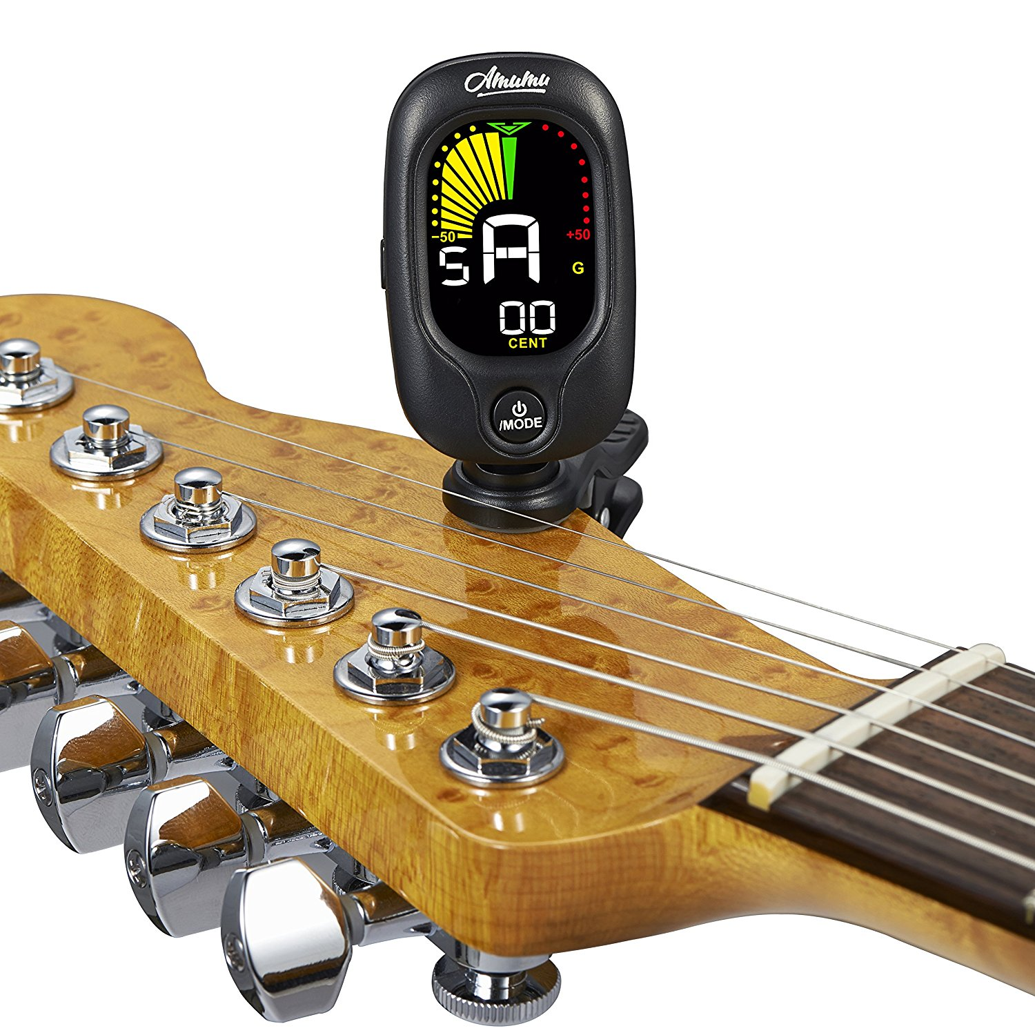 Amumu Best Tuner Clip On Chromatic All Instrument Tuner Guitar, Bass, Violin, Ukulele ACT-350