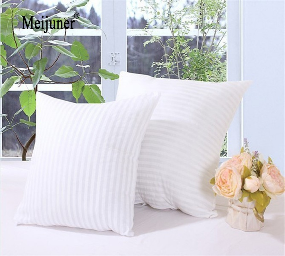 Meijuner White Cushion Insert Soft PP Cotton For Car Sofa Chair Decor Throw Pillow Core Inner Seat Cushion Filling