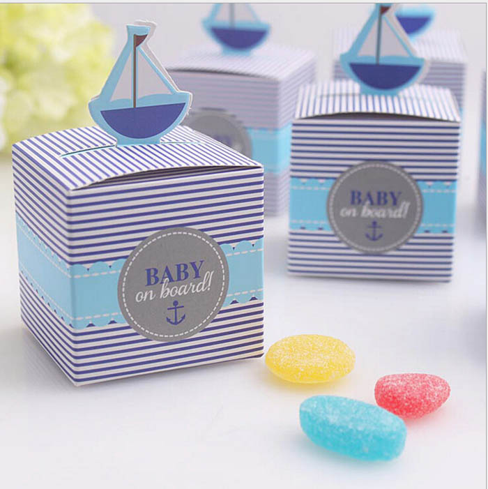 Baby on Board! Paper Favor Box Baby Shower Gift For Guests Party Favors And Gifts Boxes For Party Favors Decoration