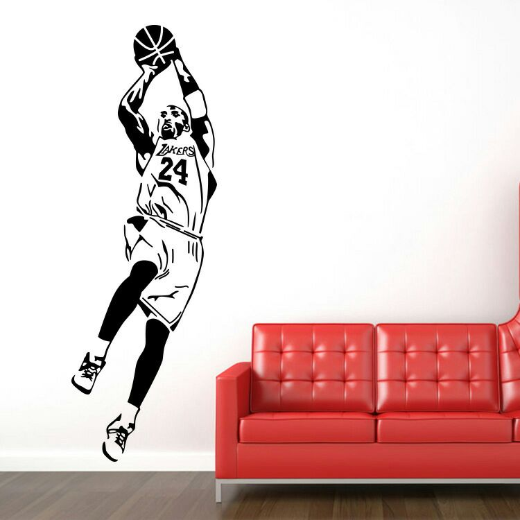 New arrival Free shipping Basketball star Kobe sports wall stickers Vinyl wall art wallpaper Home decoration