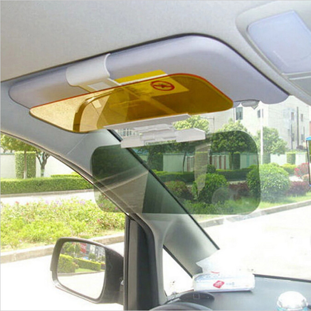 New hot Car Sunshade Day Night Sun Visor mirror Anti-dazzle Clip-on Driving Vehicle Shield hot selling