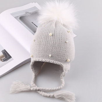Winter Hat - Knitted with Pompom