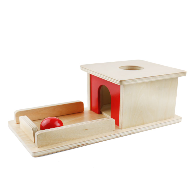 Wooden Practical Life Object Permanence Box With Tray Learning Educational Toys For Toddlers