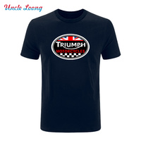 GREAT BRITAIN TRIUMPH MOTORCYCLE Logo Printing Funny T Shirt Men Cotton Casual Short Sleeve Fashion T