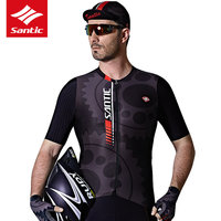 Santic Men Cycling Jersey 2019 Pro Team MTB Downhill Jersey Vtt DH Maillot Ciclismo Breathable Road Bike Bicycle Jersey