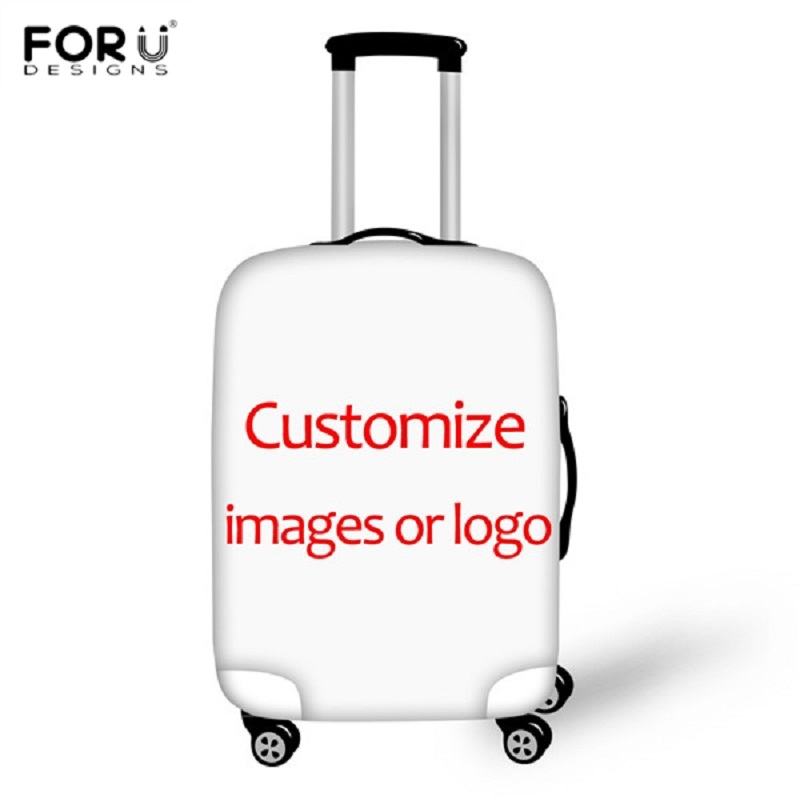 FORUDESIGNS Custom Your Logo/Image/Photo/Picture Print Luggage Covers For 18-30 Inch Suitcase Diy Protect Travel Accessories