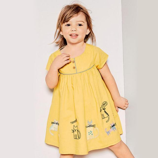 2b7c538870f9a US $7.32 43% OFF|Little maven 2019 new summer baby girls clothes brand  dress kids cotton striped animal print short sleeve floral dresses-in  Dresses ...